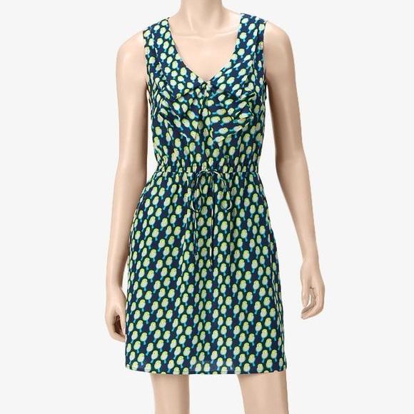 Anthropologie Dresses & Skirts - Bebop Green Bird Print Front Tie Dress S